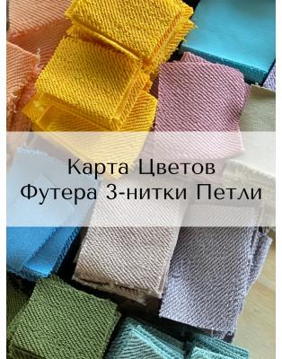 Карта Цветов Футера 3-нитки Петли 90/10