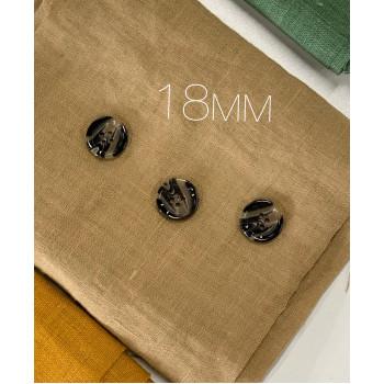 Пуговицы На 4 Прокола Черно Бежевые 18мм