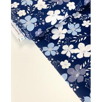 Американский Хлопок от Riley Blake Цветы Крупные на Синем